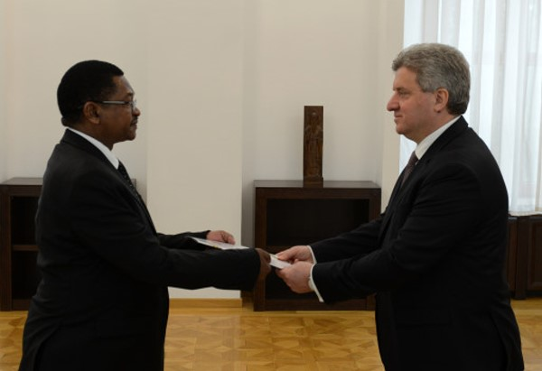 Accreditation of HE George Madafa as ambassador of Tanzania in Macedonia(2)