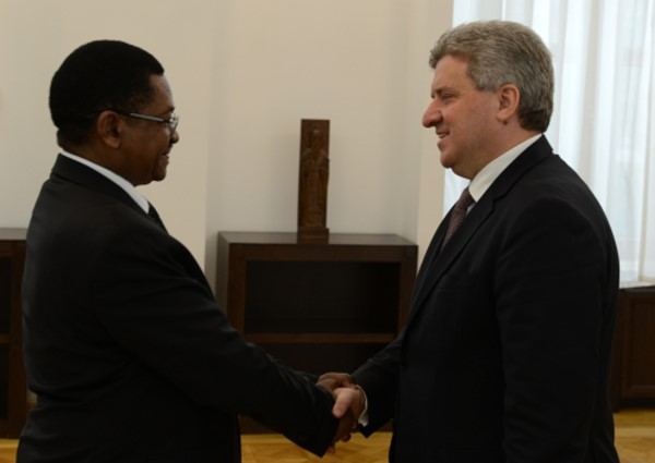 Accreditation of HE George Madafa as ambassador of Tanzania in Macedonia(5)