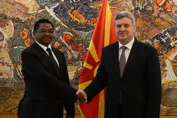Accreditation of HE George Madafa as ambassador of Tanzania in Macedonia(7)